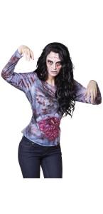 Chemise photoréaliste Sick zombie Halloween M/L