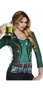 Chemise photoréaliste St Patrick femme