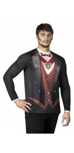 Chemise photoréaliste Vampire homme Halloween