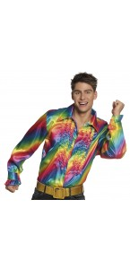 Chemise Rainbow party disco homme