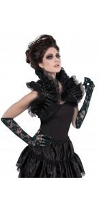 Col dentelle noire Halloween taille unique