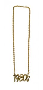 Collier années 80 or