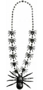 Collier avec araignées Halloween 40 cm
