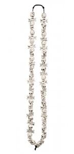 Collier crânes de squelette Halloween