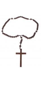 Collier de prêtre en bois Halloween 107 cm