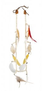 Collier indienne squaw avec plumes