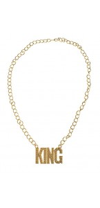 Collier King rappeur or