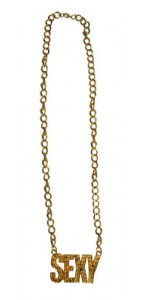 Collier médaille Sexy or