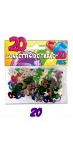Confettis de table 20 ans