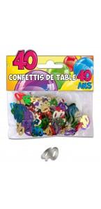 Confettis de table 40 ans