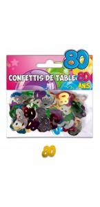 Confettis de table 80 ans