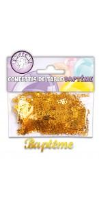 Confettis de table Baptême Or