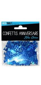 Confettis de table Joyeux Anniversaire Bleu océan