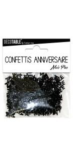 Confettis de table Joyeux Anniversaire Noir