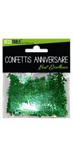 Confettis de table Joyeux Anniversaire Vert excellence