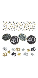 Confettis Sparkling Celebration 40 ans 34 gr