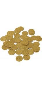 Confetttis de table pailleté or D 2,5 cm