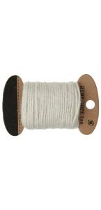 Cordon ivoire en coton 2 mm x 10 m