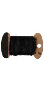 Cordon noir en coton 2 mm x 10 m