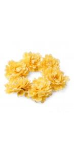 Couronne de pivoines jaunes D 35 cm
