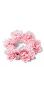 Couronne de pivoines roses D 35 cm