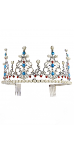 Couronne reine avec perles