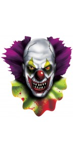 Cut out Clown effrayant Halloween 38 cm