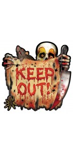 Cutout Keep out ! Halloween 26 cm