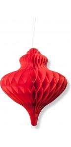 Déco alvéolée rouge élégante 35 x 15 cm