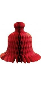 Déco alvéolée rouge géante 74 x 57 cm