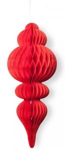 Déco alvéolée rouge pampille 50 x 10 cm