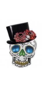 Déco murale PVC Mr Day of Dead Halloween 6 x 44 cm