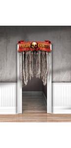 Décoration de porte Clown effrayant Halloween 96cm x 1,37 m