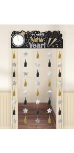 Décoration de porte Nouvel An