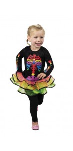 Déguisement Brightly Bony Halloween 3/4 ans