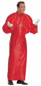 Déguisement cardinal taille XL