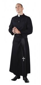 Déguisement de prêtre soutane homme
