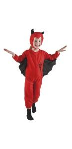 Déguisement diablotin rouge halloween 3/4 ans