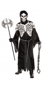 Déguisement gardien de la crypte Halloween avec masque en latex