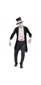 Déguisement gentleman Zombie taille L