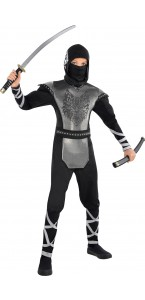 Déguisement Ninja loup garçon gris