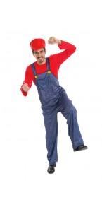 Déguisement Plombier rouge homme