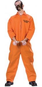 Déguisement prisonnier Psychopathe adulte Halloween taille unique