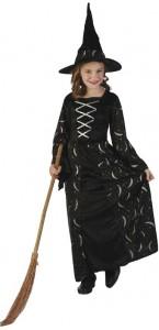 Déguisement sorcière de minuit halloween pour fille taille 10/12 ans