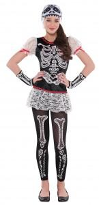 Déguisement Squelette Jour des Morts Halloween fille