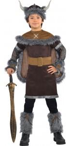Déguisement Viking garçon marron