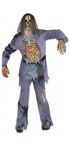 Déguisement Zombie chemise avec relief 3D Halloween taille XL
