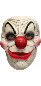 Demi masque de clown cauchemardesque bouche rouge Halloween