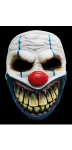 Demi masque de clown cauchemardesque Halloween