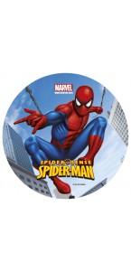Disque  en sucre déco gâteau Spiderman D 16 cm 15 gr